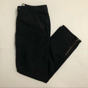 "Tommy Hilfiger 9"" Rise Stretch Black Pants"